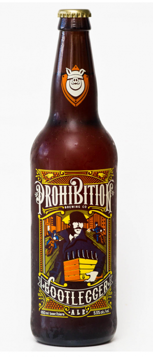 Bootlegger Ale by Prohibition Brewing in British Columbia, Canada