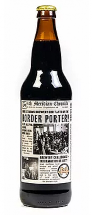 Border Porter by 4th Meridian Brewing Company in Alberta, Canada