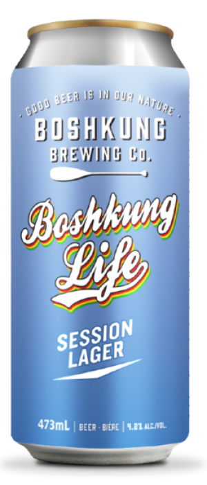 Boshkung Life Session Lager by Boshkung Brewing Company in Ontario, Canada
