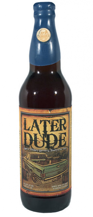 Later Dude Barrel-Aged Wheat Wine by Boulder Beer Company in Colorado, United States