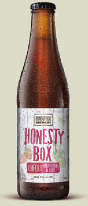 Honesty Box Strawberry and Lime Cider