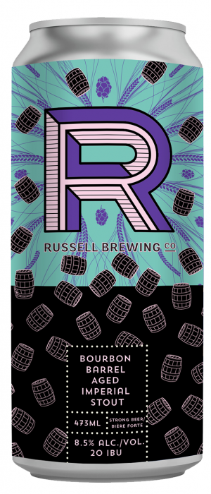 Bourbon Barrel Aged Imperial Stout by Russell Brewing Company in British Columbia, Canada