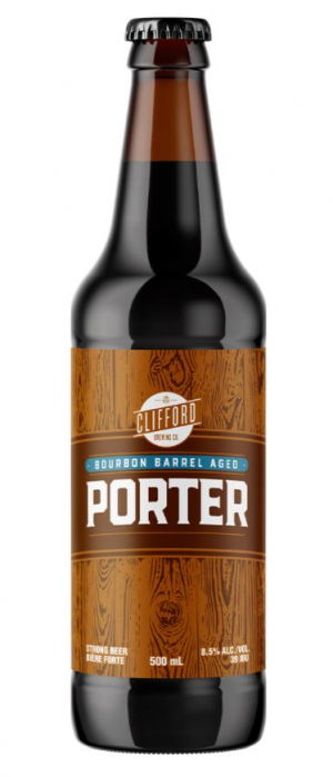 Bourbon Barrel Aged Porter by Clifford Brewing Co. in Ontario, Canada