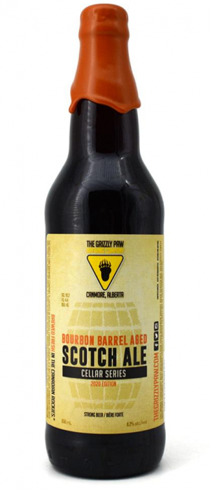 Bourbon Barrel Aged Scotch Ale by The Grizzly Paw Brewing Company in Alberta, Canada