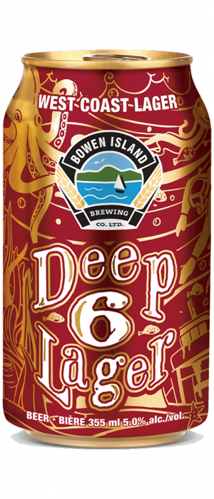 Deep 6 Lager by Bowen Island Brewing in British Columbia, Canada