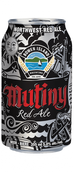 Mutiny Red Ale by Bowen Island Brewing in British Columbia, Canada