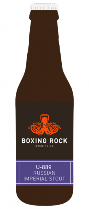 U-889 Russian Imperial Stout by Boxing Rock Brewing Company in Nova Scotia, Canada