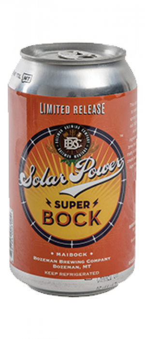 Solar Power Super Bock by Bozeman Brewing Company in Montana, United States