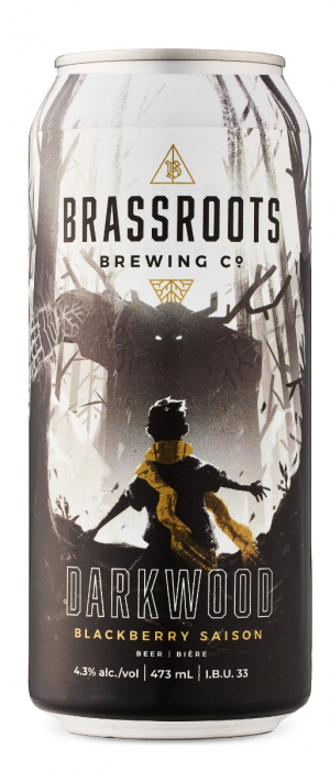 Darkwood Blackberry Saison by Brassroots Brewing Company in Ontario, Canada