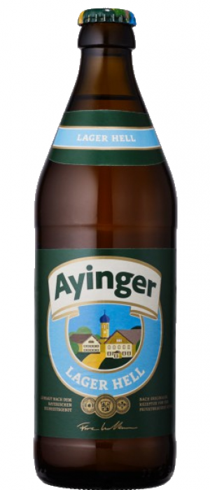 Ayinger Lager Hell by Bräu von Aying in Bavaria, Germany