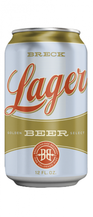 Breck Lager by Breckenridge Brewery in Colorado, United States