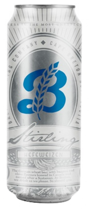 Stirling Hefeweizen by Breton Brewing Co. in Nova Scotia, Canada