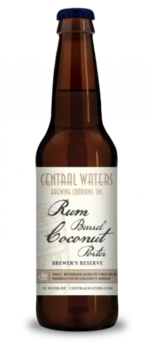 Brewer's Reserve Rum Barrel Coconut Porter by Central Waters Brewing Company in Wisconsin, United States