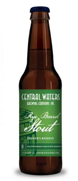 Brewer's Reserve Rye Barrel Stout by Central Waters Brewing Company in Wisconsin, United States