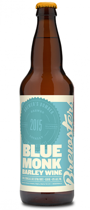 Blue Monk Barley Wine by Brewsters Brewing Company in Alberta, Canada