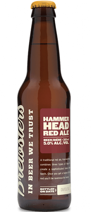 Hammerhead Red Ale by Brewsters Brewing Company in Alberta, Canada