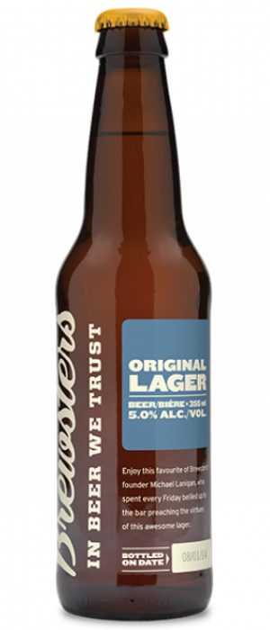 Original Lager by Brewsters Brewing Company in Alberta, Canada