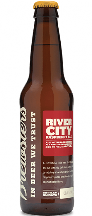 River City Raspberry Ale by Brewsters Brewing Company in Alberta, Canada