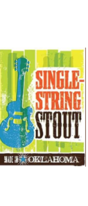 Single String Stout by Bricktown Brewery in Arkansas, United States