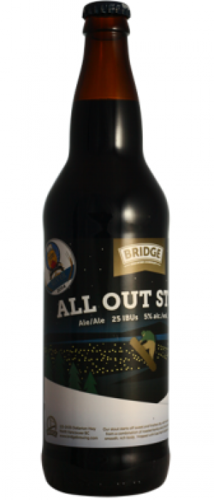 All Out Stout by Bridge Brewing Company in British Columbia, Canada