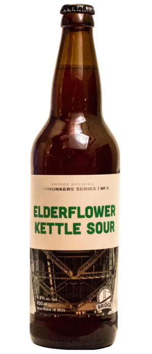Elderflower Kettle Sour by Bridge Brewing Company in British Columbia, Canada