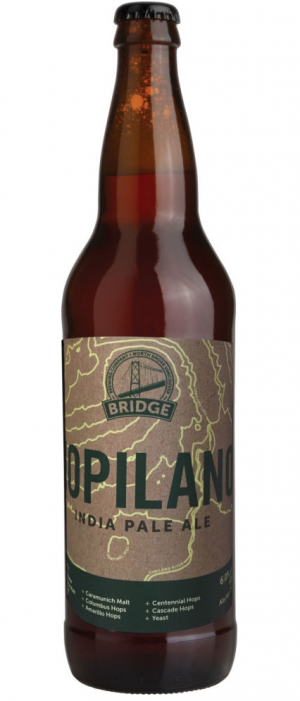 Hopliano IPA by Bridge Brewing Company in British Columbia, Canada