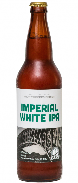 Imperial White IPA by Bridge Brewing Company in British Columbia, Canada