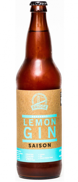 Lemon Gin Saison by Bridge Brewing Company in British Columbia, Canada