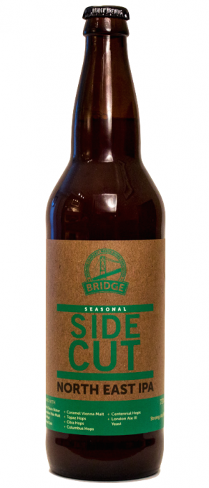 Side Cut IPA by Bridge Brewing Company in British Columbia, Canada