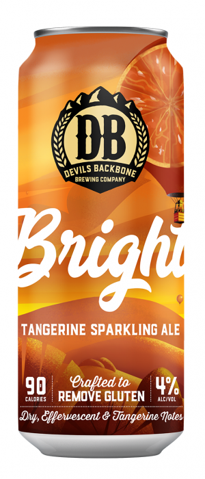 Bright Tangerine Sparkling Ale by Devils Backbone Brewing Company in Virginia, United States