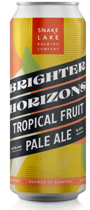 Brighter Horizons Tropical Fruit Pale Ale by Snake Lake Brewing Company in Alberta, Canada