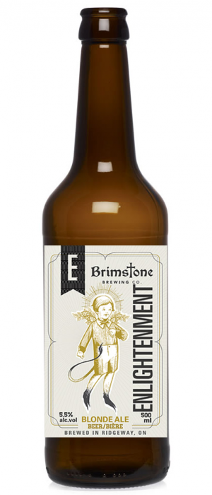 Enlightenment Blonde by Brimstone Brewing Company in Ontario, Canada
