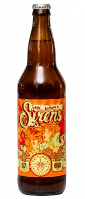 Sirens Chai Saison by Britannia Brewing Company in British Columbia, Canada