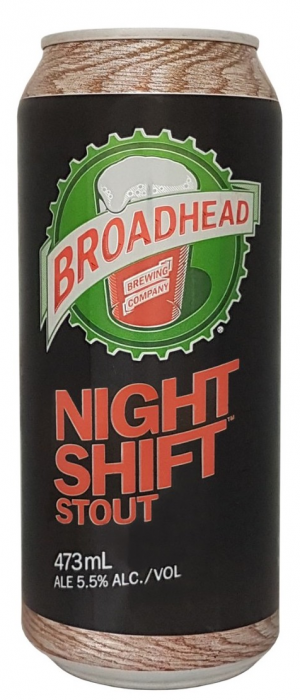 Night Shift Stout by Broadhead Brewing Company in Ontario, Canada