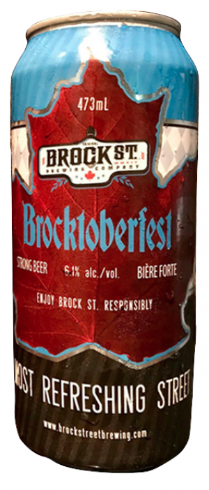 Brocktoberfest by Brock St. Brewing Company in Ontario, Canada
