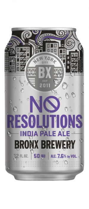 No Resolutions IPA by Bronx Brewery in New York, United States