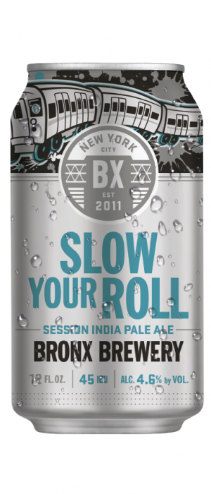 Slow Your Roll Session IPA by Bronx Brewery in New York, United States