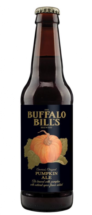 Pumpkin Ale by Buffalo Bill's Brewery in California, United States