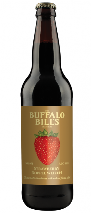 Strawberry Doppel Weizen by Buffalo Bill's Brewery in California, United States
