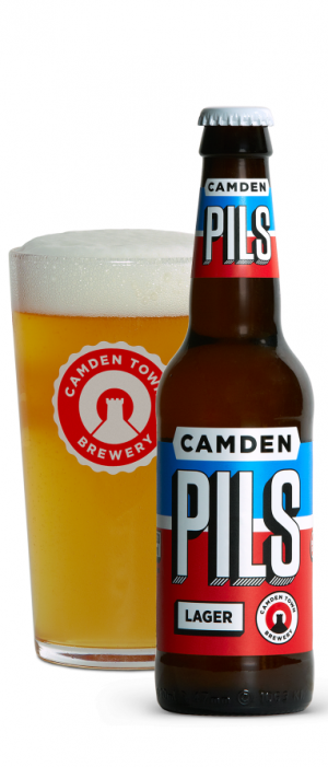 Camden Pils Lager by Camden Town Brewery in London - England, United Kingdom