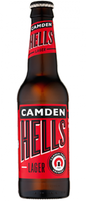 Hells Lager by Camden Town Brewery in London - England, United Kingdom