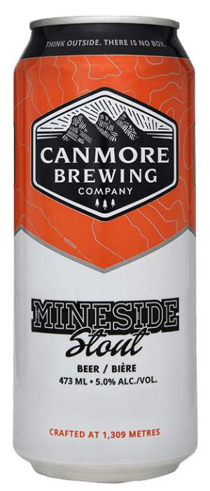 Mineside Stout by Canmore Brewing Company in Alberta, Canada