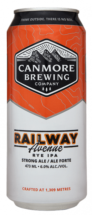 Railway Avenue Rye IPA by Canmore Brewing Company in Alberta, Canada