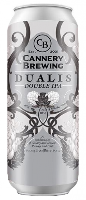 Dualis Double IPA by Cannery Brewing in British Columbia, Canada