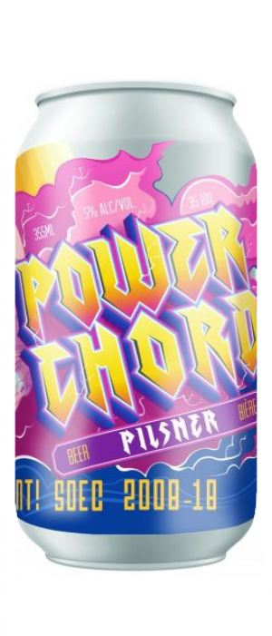 Power Chord Pilsner by Cannery Brewing in British Columbia, Canada