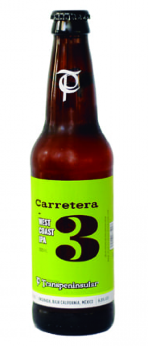 Carretera 3 West Coast IPA by Cervecería Transpeninsular in Baja California, Mexico