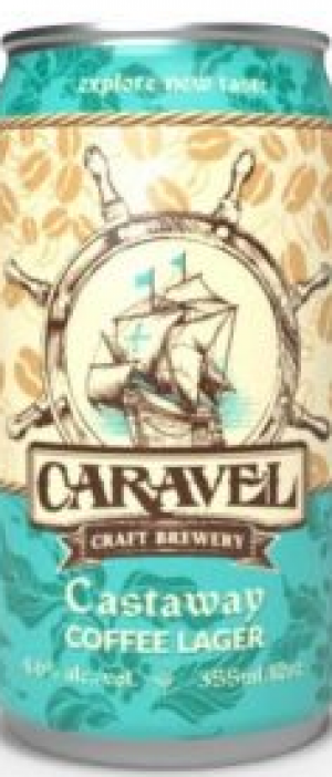 Castaway Coffee Lager by Caravel Craft Brewery in Alberta, Canada