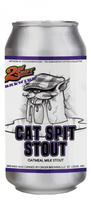 Cat Spit Stout by 2nd Shift Brewing in Missouri, United States