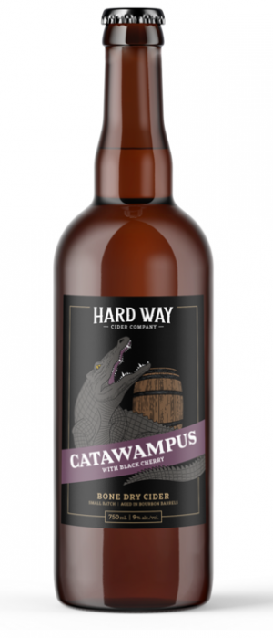 Catawampus with Black Cherry by Hard Way Cider Co. in Ontario, Canada