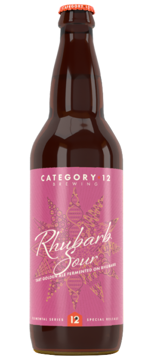 Rhubarb Sour by Category 12 Brewing in British Columbia, Canada